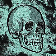 Skull in Aquamarine Fog 2