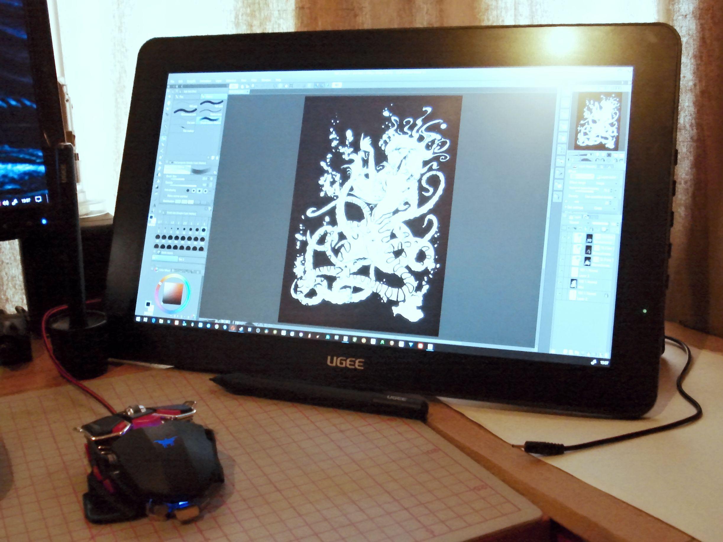 CG Art Nexus - Ugee HK1560 display tablet review