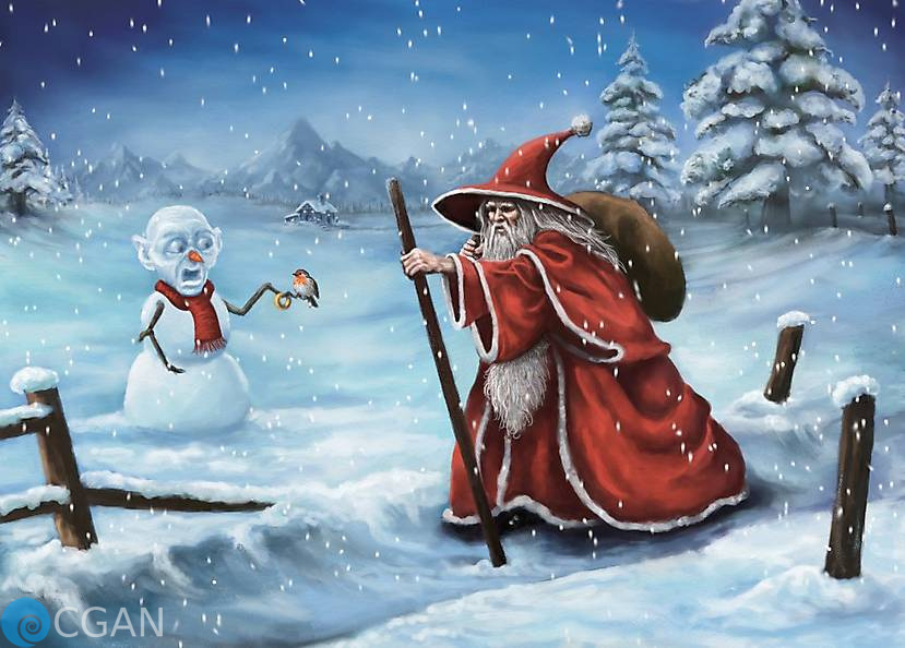 Gandalf The Red and Snow Gollum